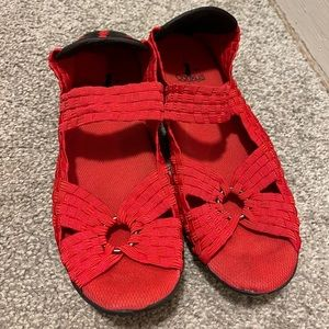 Corkys ring women's red mary janes